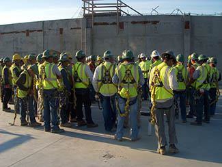 Schuster Concrete Construction Safety Meeting