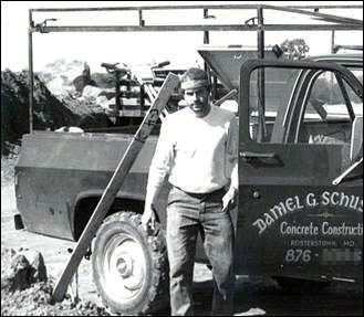 Old Photo of Daniel G. Schuster Concrete Construction